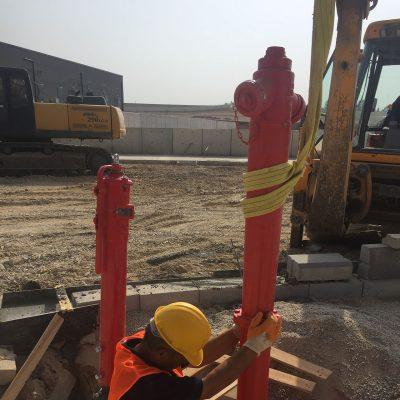 yangın hidrantı ve post indikatör vana  montajı